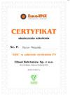 Certyfikat UDT OZE PV