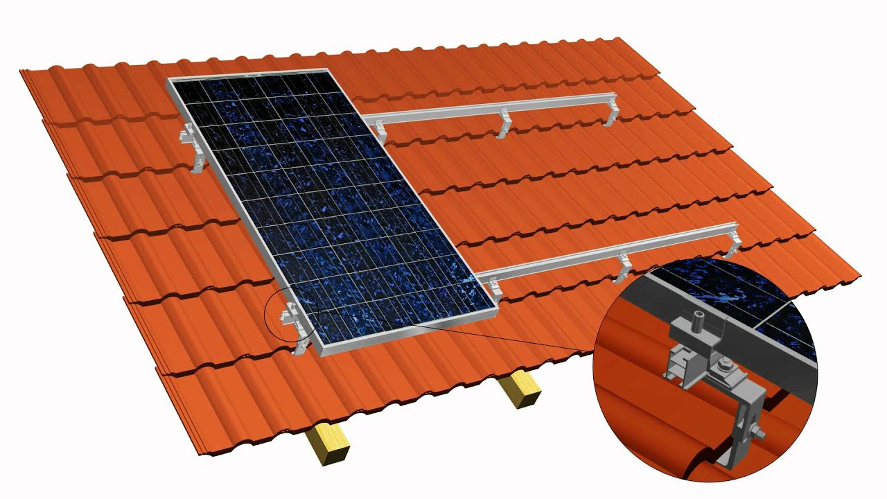 Montaż na dach skośny